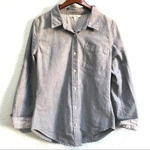Miami 100% Cotton Denim Button Up Shirt Size S